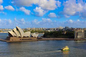 Sydney Opera House, Australien - Foto wurde von der Harbour Bridge geschossen