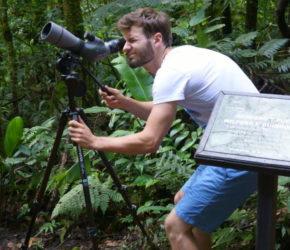 Tiere entdecken mit einem Teleskop