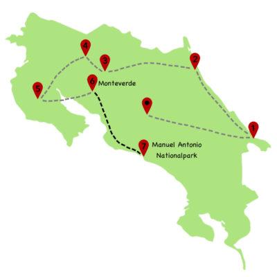 Costa Rica Rundreise Karte 7