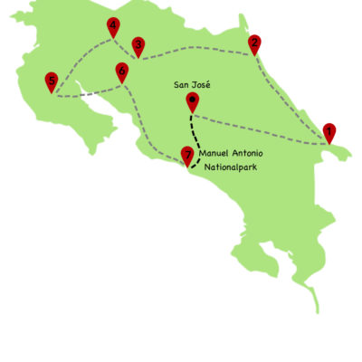 Costa Rica Rundreise Karte 8