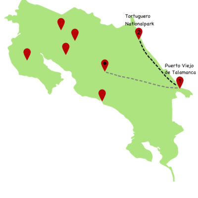 Costa Rica Rundreise Karte