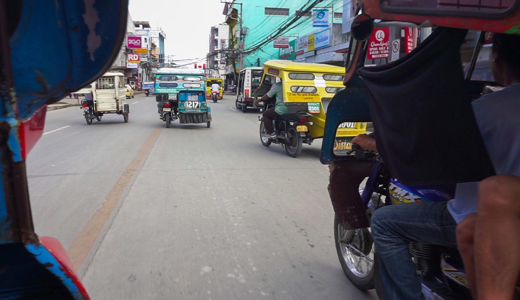 Tricycles auf den Philippinen